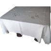 Madeira White Tablecloth- 116 inches long by 60 inches wide