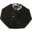 Black Glass Tidbit Tray in Octagon Shape