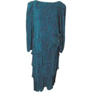 Vintage Cattiva Dark Turquoise Dress by Maya Jornot