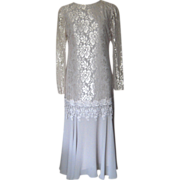 Ursula of Switzerland Dress with Lace and Chiffon