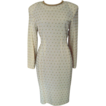 Carmen Marc Valvo  Wool Beaded Dress made in Hong Kong