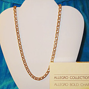 SALE Vintage Avon Allegra Collection ~ Allegra Gold Chain Necklace