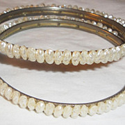 "SALE Double Vintage ""Seeded"" Bangle Bracelets"