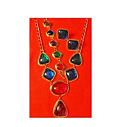 "SALE Avon's Kenneth Jay Lane 1993 ""Caprianti Collection"" ~ Necklace & Clip Earrings"