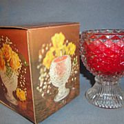 SALE Vintage Avon 1975-76 �Facets of Light� with Bayberry Fragrassnace Candlette