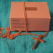 SALE Vintage Avon Men's Cross Necklace