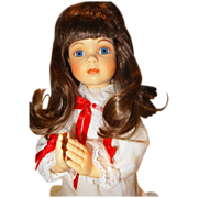 SALE 1991 &quot;A Christmas Prayer&quot; Doll, No. 4084Q, inspired by Donald Zolan exclusively