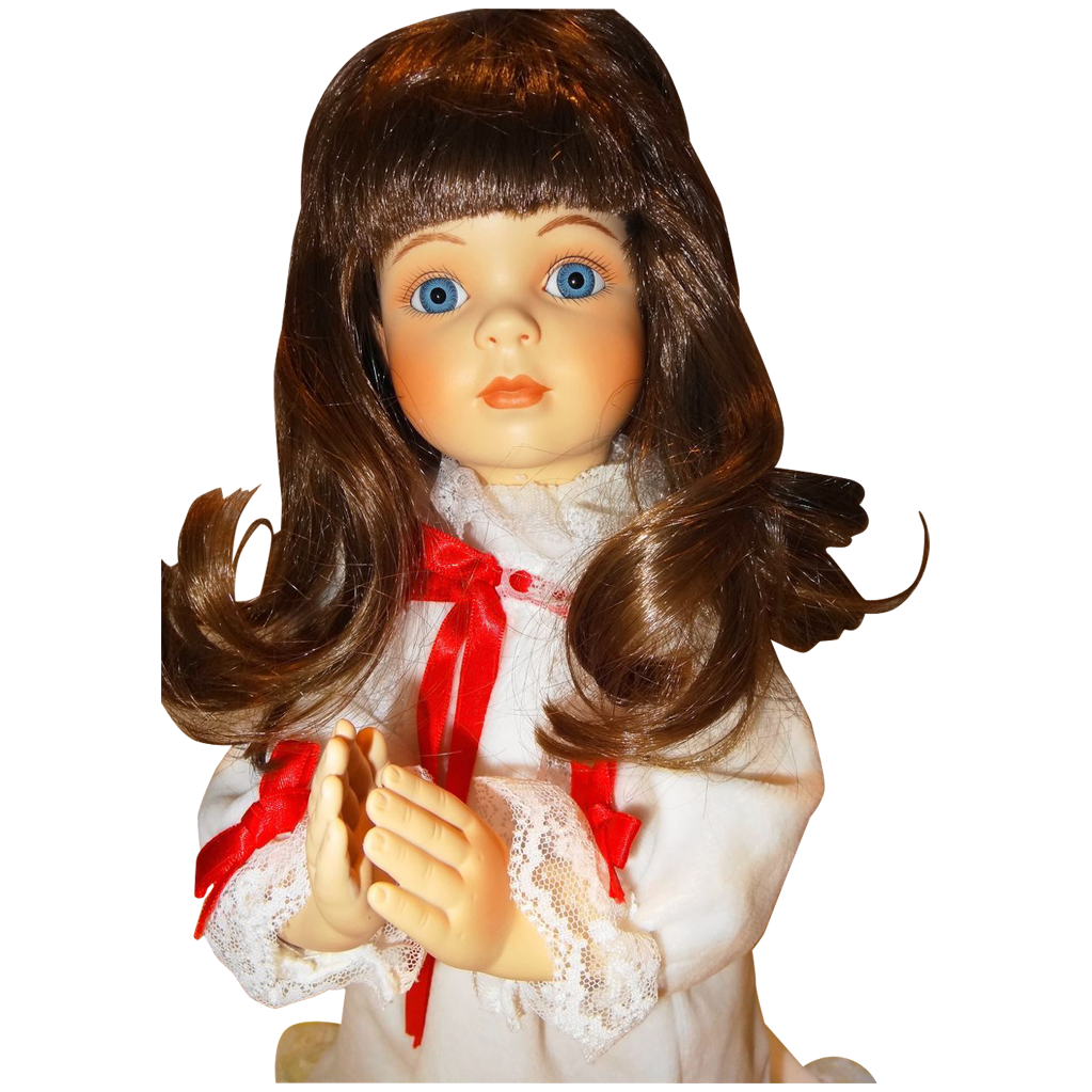 "1991 ""A Christmas Prayer"" Doll, No. 4084Q, inspired by Donald Zolan exclusively from The Hamilton Collection in association with Pemberton & Oakes"