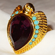 SALE �Egyptian Style Collection� Ring ~ Size 7-8 ~ Avon�s Elizabeth Taylor Signed Collection ~