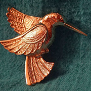 SALE Gold Hummingbird