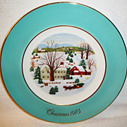 SALE WEDGWOOD Designed Exclusively for Avon &quot;Christmas on the Farm&quot; 1973 with 22KT g