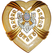 REDUCED &quot;Heart of Hollywood Collection&quot; Brooch/Pin ~ 1994 ~ Avon's Elizabeth Taylor 