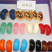 SALE Designer Signed Kenneth Jay Lane Small Hoop Earrings ~ comes in 10 different colors