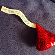SALE Vintage 1989 Hallmark Card's Hershey's Chocolate Kiss Pin