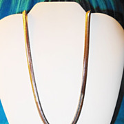 "SALE Vintage Avon 1986 ""Luxurious Lengths Necklace"" ~ 35"" of silver-tone snake"