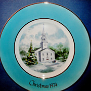 SALE Christmas 1974 ~ WEDGWOOD Designed Exclusively for Avon &quot;Country Church&quot; Christ