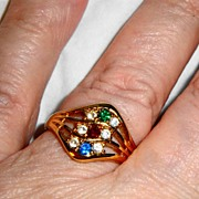 "SALE Vintage Signed Avon 1992 ""Sparkling Wave"" Ring ~ Size 10"