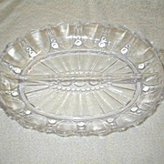 Depression Glass Oyster & Pearl Divided Relish Dish
