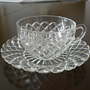 "Waterford ""Waffle"" Cup and Saucer"