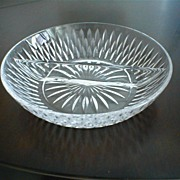 Vintage Crystal  Divided Serving Dish