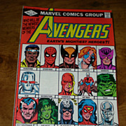 Marvel Comics  The Avengers 1982 Comic Book