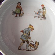 Child's Porcelain Feeding Dish, Germany
