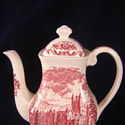 Wedgwood Royal Homes of Britain Red Tall Tea or Coffee Pot