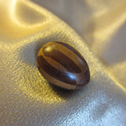 Miniature Inlaid Wood Darning Egg