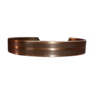 Copper Cuff Bracelet w Cross Hatch Pattern