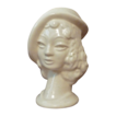 Woman Ivory USA Glazed Ceramic Head Vase c1940s
