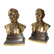 Abraham Lincoln Metal Bookends Philadelphia Mfg. Co.