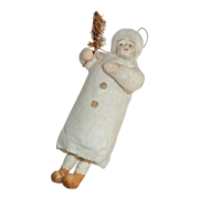 Antique Victorian Spun Cotton Christmas Doll Decoration