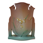 Gorgeous Roseville Pottery Ixia Pattern Vase c1930s