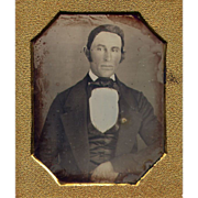 Sealed Early Daguerreotype of a Gentleman c1845 - 6th plate