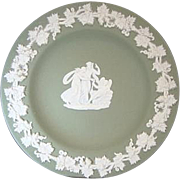 Wedgwood Green Jasperware Sweet Dish/Pin Tray