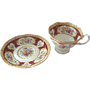"Royal Albert ""Lady Hamilton"" Cup and Saucer Duo x 2 Available"