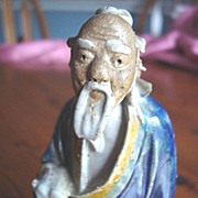 Shekwan Chinese Mudman Figurine Seated Scholar 1890 - 1919
