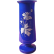 Victorian Bristol Blue Glass Vase