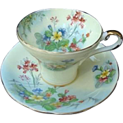 "Aynsley English Bone China ""Primrose"" Cup and Saucer"