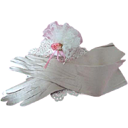 Finest Suede Ladies Gloves French Early 20th Century Beige Coloured