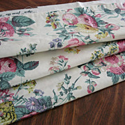 Vintage Greeff English Glazed Chintz Floral Upholstery Fabric