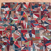 Victorian Crazy Quilt w/ Provenance - Amazing 19th Century Array of Fabrics