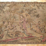Antique Tapestry with Chinoiserie or Japanese Theme