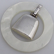 Teething Ring Sterling Silver Faux Mother of Pearl Ring Webster Company 1960