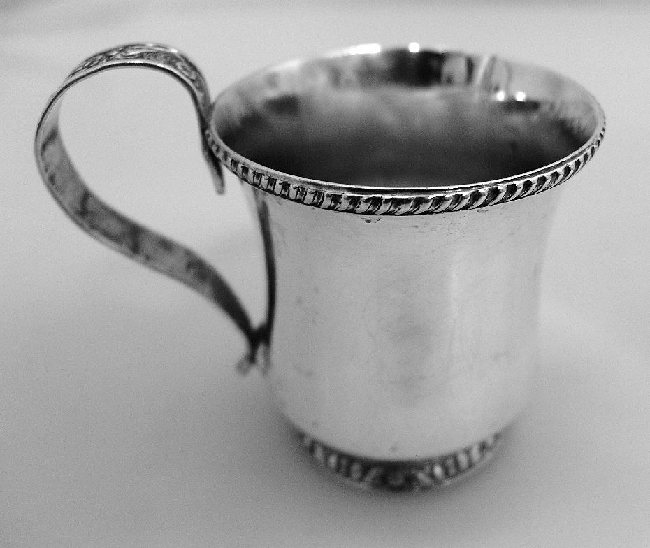 Coin Silver Baby Cup William Thompson 1831 New York