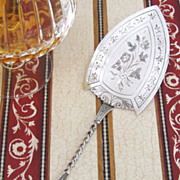 Pastry Server Norwegian Floral Engraved Twist Handle 1890 830 Standard Silver