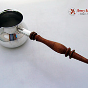 Sauce Pan Revere Sterling SIlver 1950 Turned Wood Handle