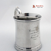 SALE Coin Silver Mug Eoff and Phyfe Canfield Brothers 1845 Carrie A Meyer