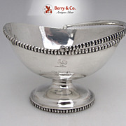 SALE Swing Handle Basket Elongated Beading Coin Silver Eoff Shepard 1855 Monogram ED Rooster