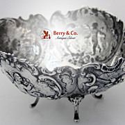 SALE Hanau Cherub Rose Footed Bowl 800 Standard Silver 1890